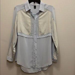 Chico's blk label blouse .Size 0